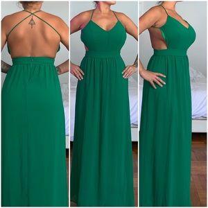 Lulus Green Maxi Dress S